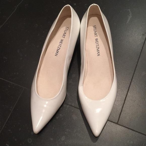 Stuart Weitzman Shoes   White Low Pumps